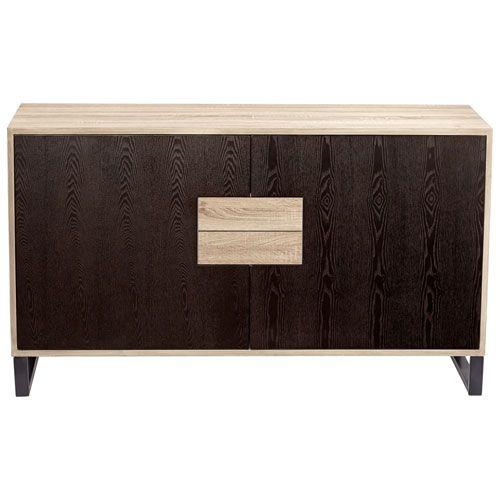 Miles Oak Veneer Cabinet