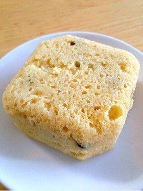 OKARA STEAMED BREAD 簡単!ヘルシー!お から蒸しパン☆ (dried fruit)