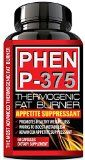 PHEN P-375® - PHARMACEUTICAL Grade Weight Loss Diet Pills - Most Advanced Appetite Suppressant that Works & Thermogenic Fat Burner - Increase Energy & Lose Weight with Clinically Proven Weight Loss Ingredients - Made in USA (1 Month Supply).  PHEN P-375® (NEW PHEN FORMULA) is the Newest and Most Advanced Rapid Thermogenic Fat Burner and Appetite Suppressant that Works.  Choose the MOST POTENT Pharmaceutical Grade PHEN P-375® Diet Pills. PHEN P-375® is an Over The Counter
