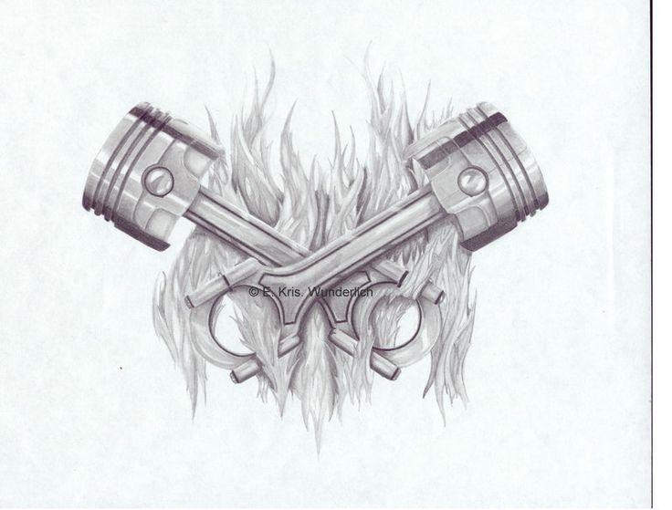 piston tattoos
