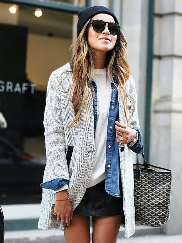 Lay it on me, baby. via @WhoWhatWear. Coat layering.