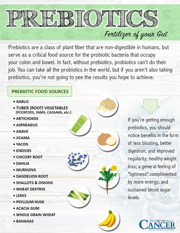 "Do you know the difference between prebiotics and probiotics? You need BOTH for healthy gut function, which means less bloating, better digestion, and improved regularity; healthy weight loss; a general feeling of ""lightness"" complimented by more energy; and sustained blood sugar levels. Read all about it by clicking on the image. - The Truth About Cancer"