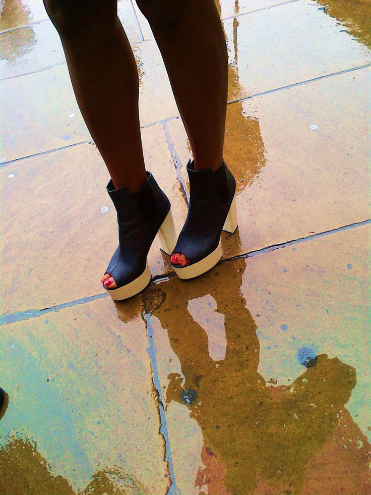 Platforms & Puddles - Somerset House London Fashion Week.