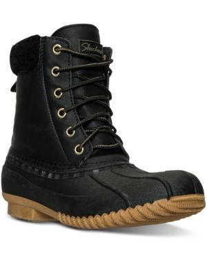 Skechers Women's Duck Boots from Finish Line - Black