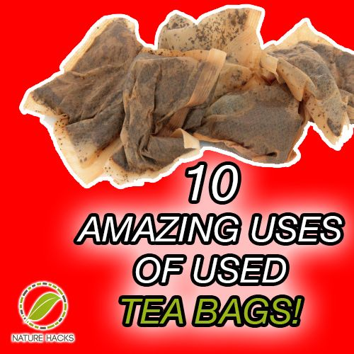 10 amazing uses of used tea bags samsharron pinterest bags health and 10 top - Uses for tea bags ...