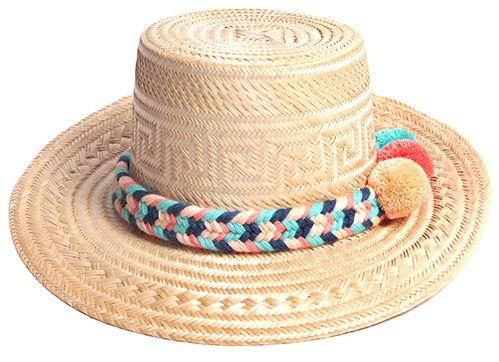 Chapeau en paille et coton Yosuzi