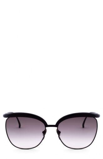 Женские чёрные солнцезащитные очки Bottega Veneta, сезон FW 16/17, арт. 0038 002 купить в ЦУМ | Фото №1