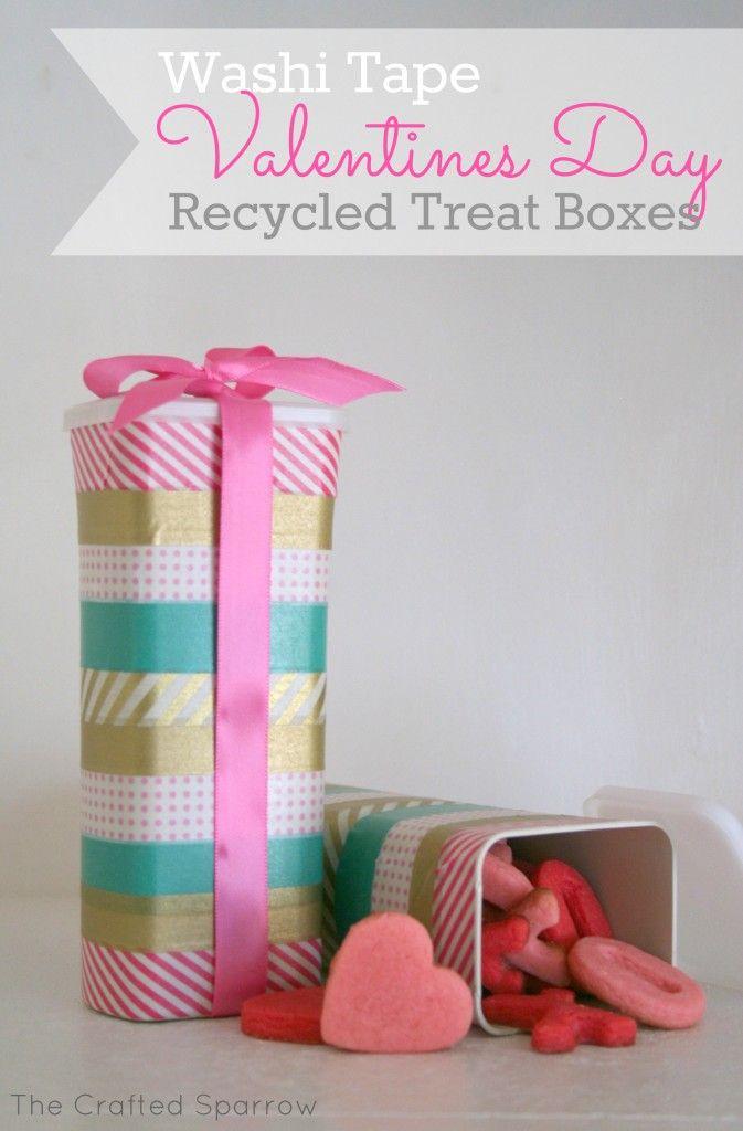 Recycled Valentines Day Treat Container Repurpose Genius