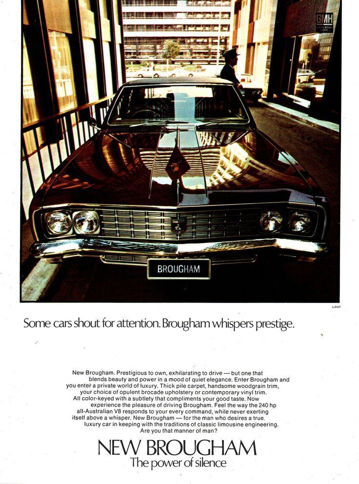 https://flic.kr/p/VKE8Fd | 1970 HT Brougham By Holden Aussie Original Magazine Advertisement