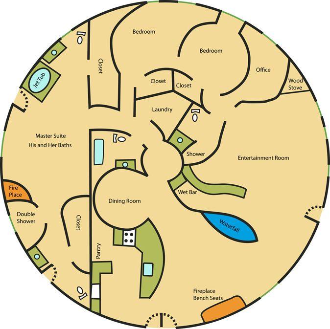 circle house floor plan