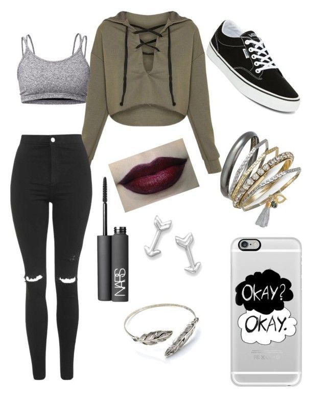 """Instagram style"" by queen-alex2002 on Polyvore featuring Topshop, Lija, Vans, NARS Cosmetics, Casetify and Thalia Sodi"