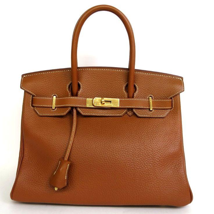 【中古】Hermes(エルメス) バーキン30 ハンドバッグ トゴ ゴールド 茶 C刻 ゴールド金具/エルメスの最高峰バッグとも称され、女性なら誰もが一度は憧れるアイテムとして名を馳せるバッグ「バーキン」です。/専門鑑定士があなたの商品を高額査定!全国新品同様・極美品・美品の中古ブランド時計を格安で提供いたします。