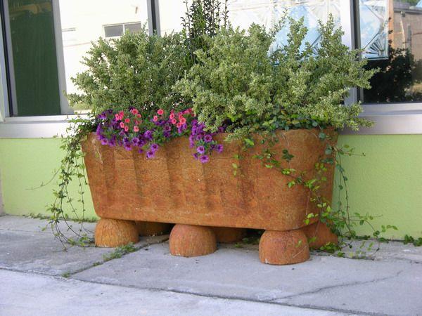 DIY Concrete Planter. Hypertufa Mix. Rustic Ancient Look