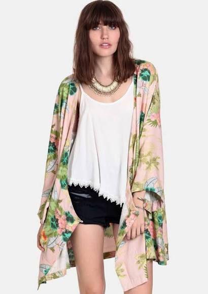 Hoax Tropical Kimono Dress By Somedays Lovin
