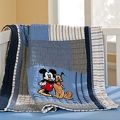 Mickey Mouse Bathroom Accessories on Mickey Mouse Quilt For Baby   Heirloom   Personalizable