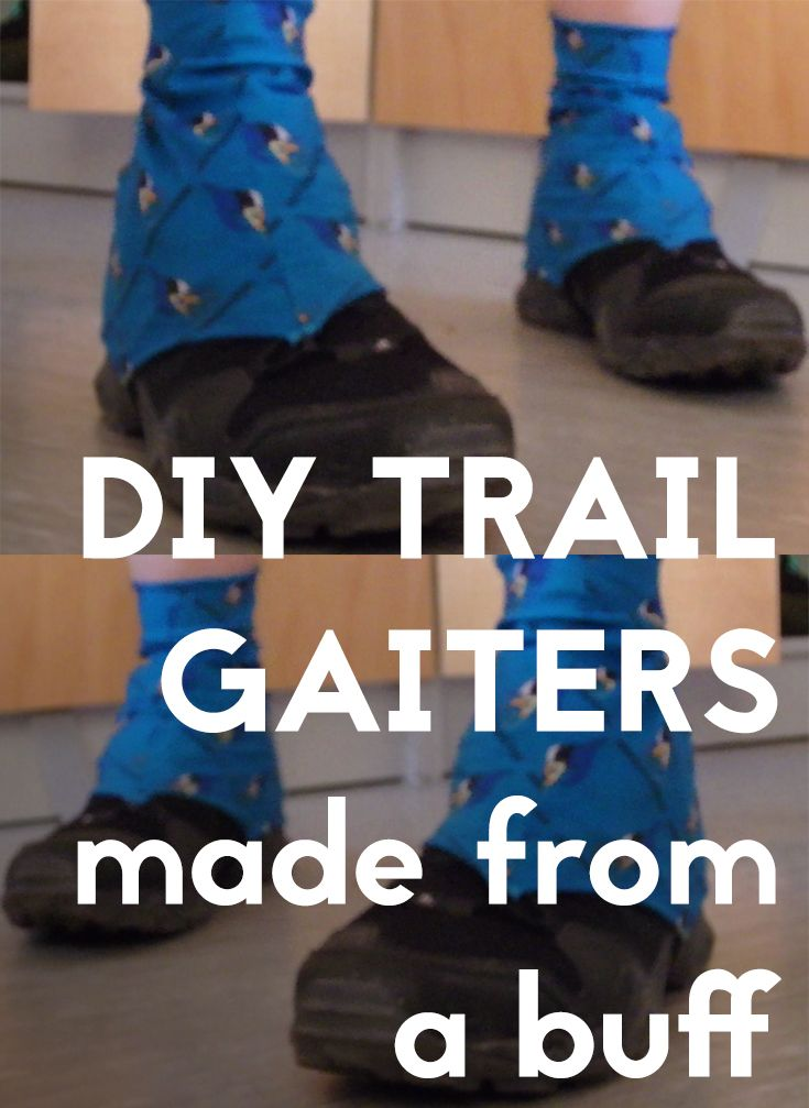 carne Feudo Presidente  Simple but lightweight trail gaiters made from a buff (neck scarf) | Diy  running, Gaiters, Hiking gaiters
