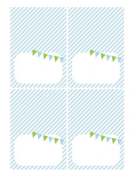 free printables boy birthday tented cards blue green