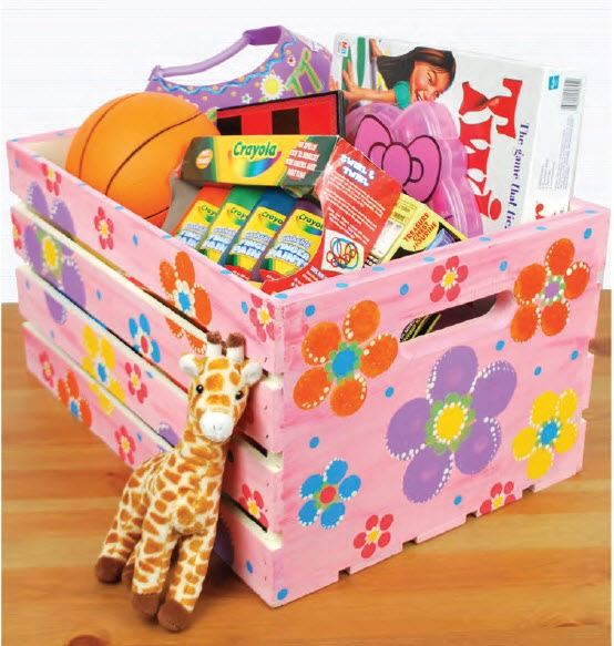 A c moore flower storage crate craft craftpainting for Ac moore and crafts
