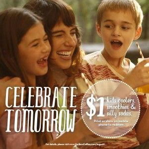 Celebrate National Son and Daughter day at Caribou Coffee with $1 Kids Drinks! #CaribouCoffee