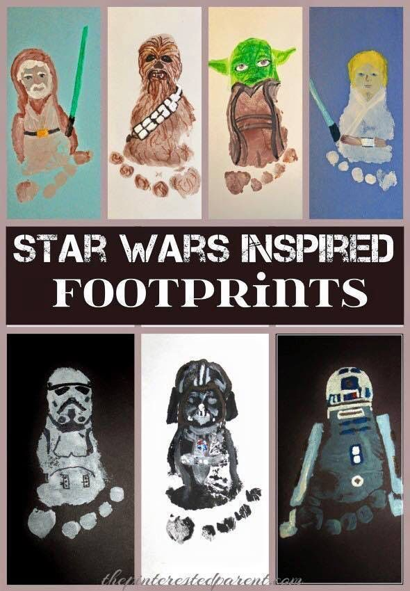 Star Wars inspired baby footprints! Such a fun and precious (and nerdy) keepsake!