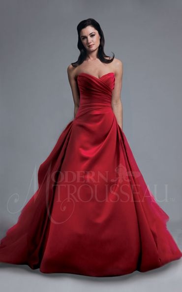 a fabulous red ball gown from Modern Trousseau. I'd love this is black! Super formal and would look great in photos:) @kimi Taylor.