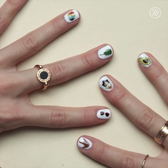 DIY Emoji Nail Art