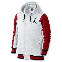 Men's Jordan Varsity 2.0 Hoodie| FinishLine.com | White/Gym Red/Black