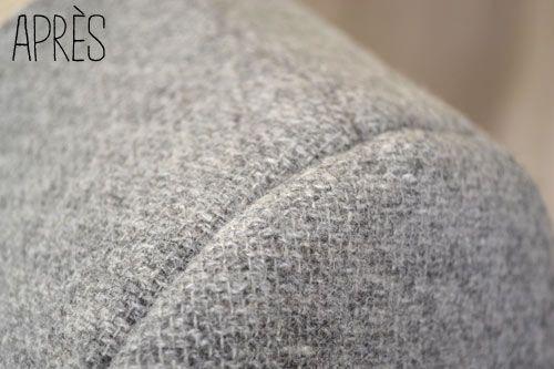 Weblog couture & tricot – Pose d'une cigarette et épaulette feutre – A&A Patrons