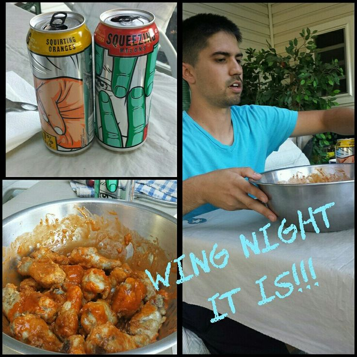 we are saving up .. so wings are homemade .. :)