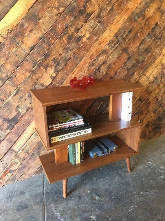 custom mid century style bookshelf