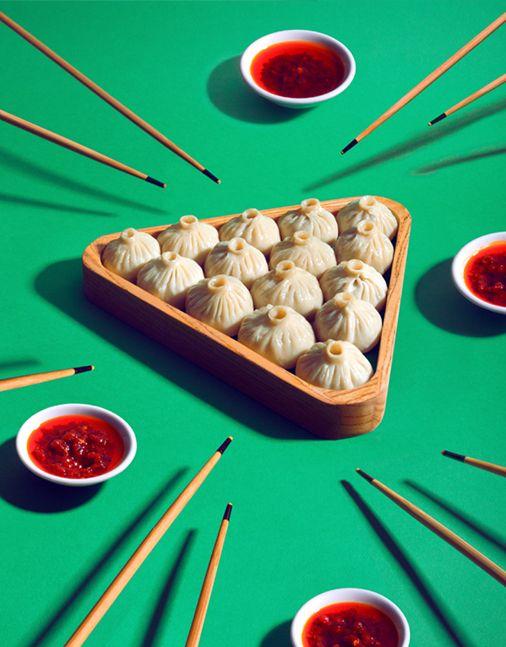 Mian Fan série de visuels présentant les recettes des restaurants parisiens d'asian fusion food.