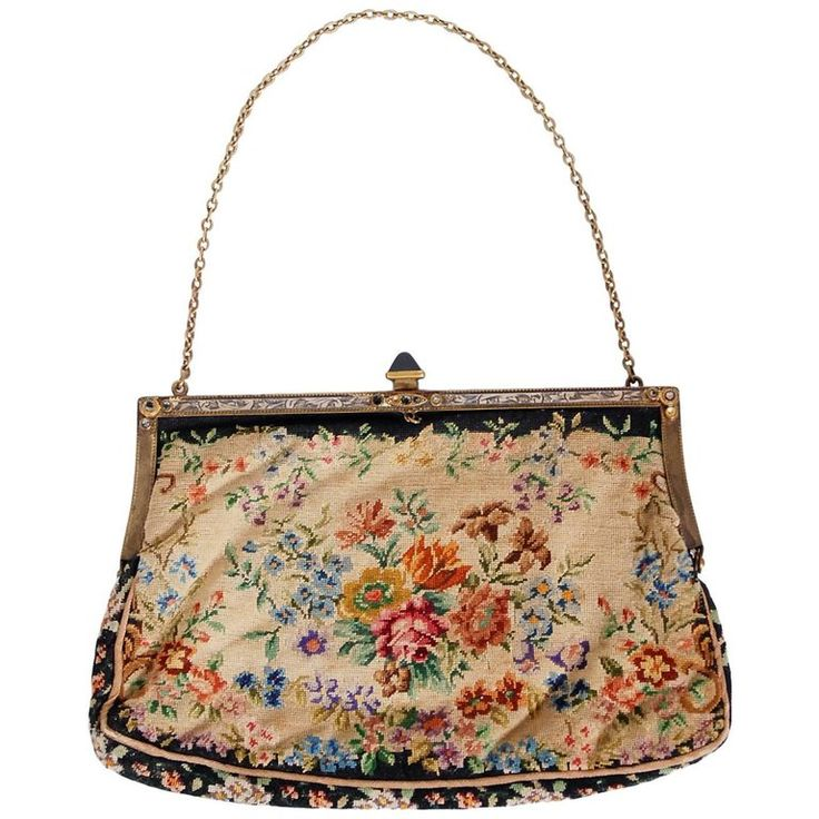 1954 Marilyn Monroe Owned Needlepoint Purse Worn for Marriage to Joe DiMaggio | From a collection of rare vintage clutches at https://www.1stdibs.com/fashion/handbags-purses-bags/clutches/
