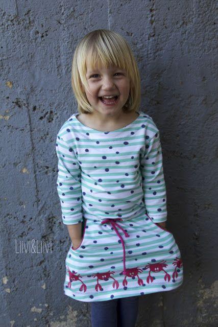 Sweatkleid Pia Kids - Fadenkäfer  Plottdatei 'Meeresliebelei' - Pedilu  http://www.liiviundliivi.com/2017/09/meer-geht-immer.html