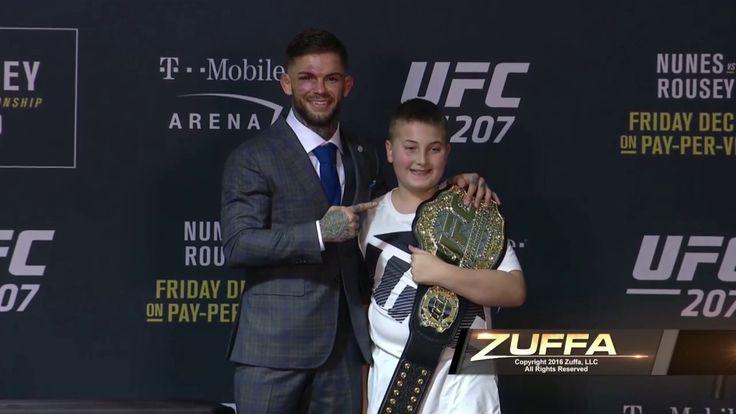 UFC 207: Cody Garbrandt Gives UFC Championship Belt to Cancer Survivor - YouTube