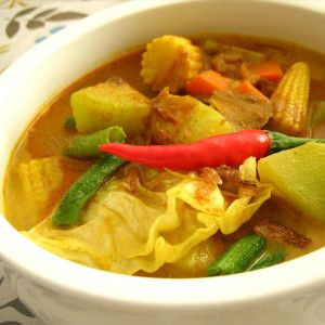 Sayur Lodeh, Vegetable Soup, Indonesian Food