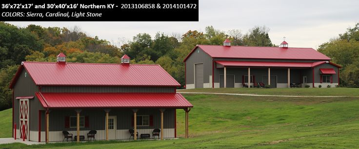 36' x 72' x 17' and 30' x 40' x 16' Cleary Suburban Buildings | Colors: Sierra, Cardinal, Light Stone