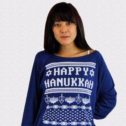 Happy Hanukkah Ugly Hanukkah Sweater-Shirt - Women's