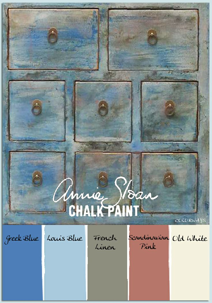 COLORWAYS  Spice Chest in Annie Sloan Chalk Paint colors
