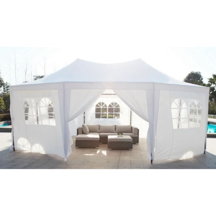 229.99€ ❤ Pour le #Jardin - #MARRAKECH #Tonnelle de jardin / #Tente de réception - 30m² - Dimensions : 5 x 6,5m ➡ https://ad.zanox.com/ppc/?28290640C84663587&ulp=[[http://www.cdiscount.com/maison/jardin-plein-air/marrakech-chapiteau-tente-de-reception-30m2/f-11785020902-at600101white.html?refer=zanoxpb&cid=affil&cm_mmc=zanoxpb-_-userid]]