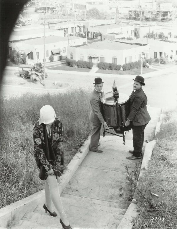 """Laurel and Hardy in """"Hats Off"""" Lost, Silent Feature"""