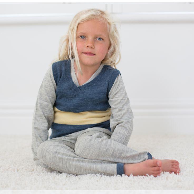 Merino Kids Vest and Pyjamas