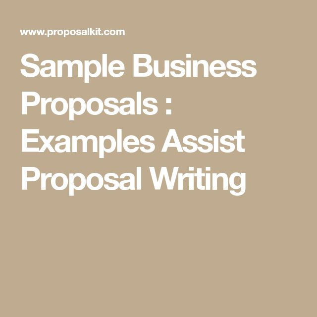 The 25+ best Business proposal examples ideas on Pinterest - business proposal template sample