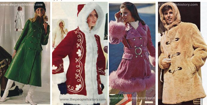 Seventies Coats Examples Clothes References Fashion