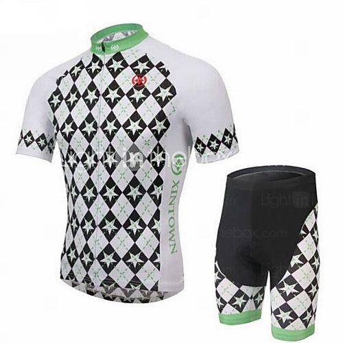 XINTOWN® Maglia con pantaloncini da ciclismo Per uomo Maniche corte BiciclettaTraspirante / Asciugatura rapida / Resistente ai raggi UV / del 2016 a €36.25