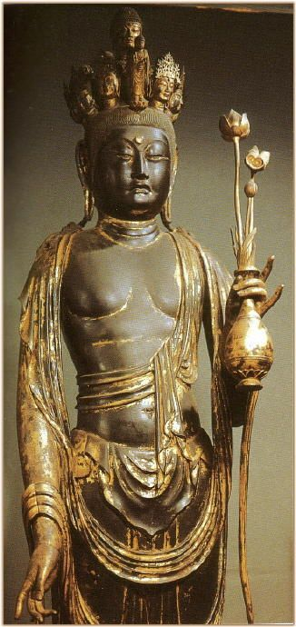 Juichimen Kannon 11-Headed Late 8th C.. Kaniman-ji Temple Japan