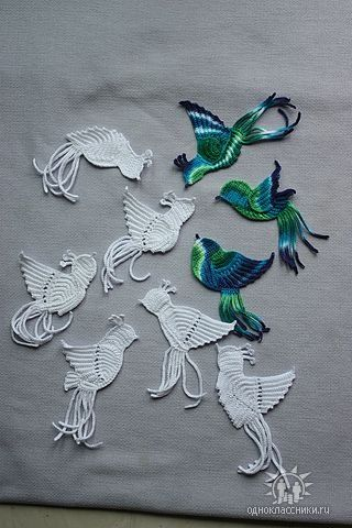 Crochet birds. Gorgeous!