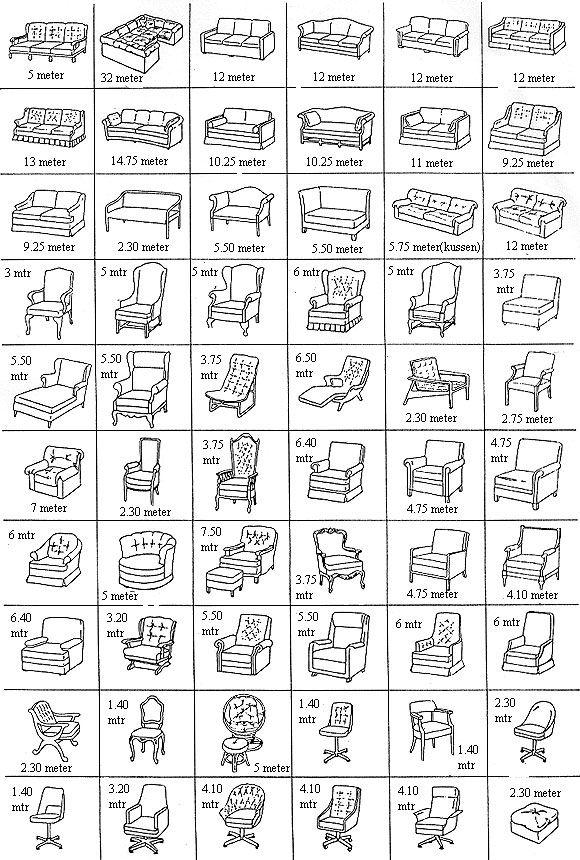 Hoeveel stof heb ik nodig voor mijn stoel of bank?