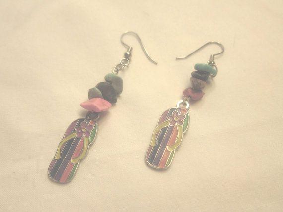 Earrings Bright Multi Color Flip Flops Flip Flop by CindyDidIt, $8.50