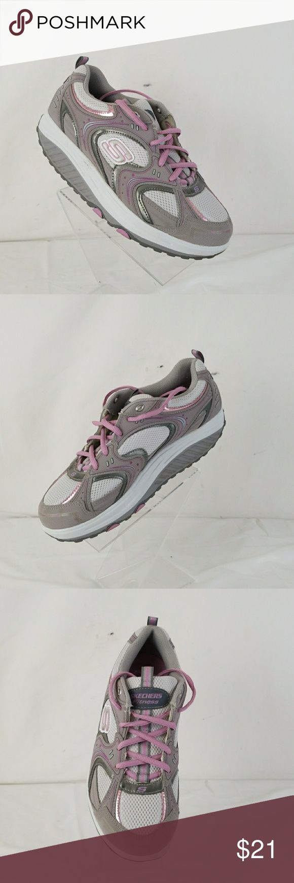 skechers shape up fitness women's shoes size 8 pre owned women's skechers shape up fitness shoes size 8.in great condition  From smoke free environment  check my closet for great deals Skechers Shoes Athletic Shoes