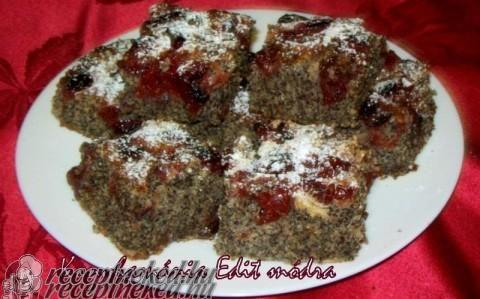 Bögrés mákos-meggyes kevert sütemény recept fotóval